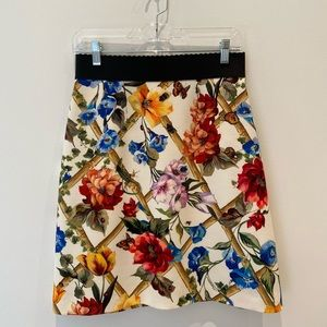 Brand New Dolce & Gabbana Floral Print Skirt